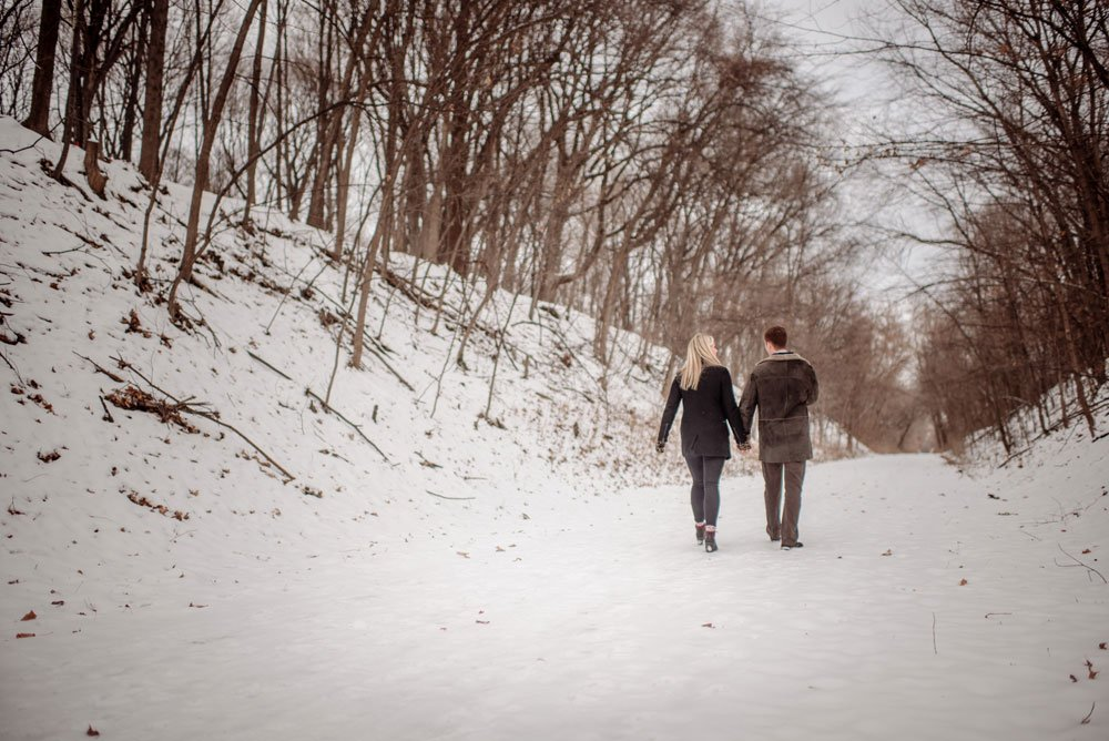 mn winter proposal photographs