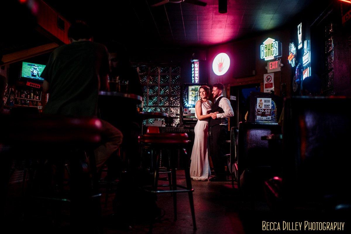 Grumpys dive bar wedding Minneapolis