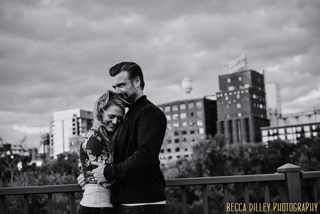 engagement photos with wind