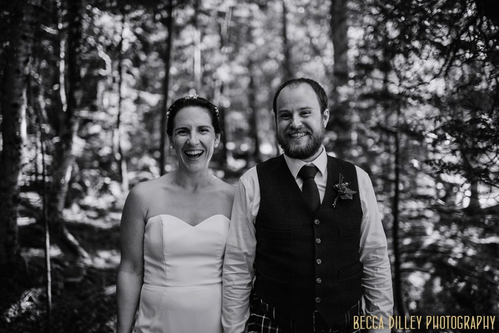 laughing A destination wedding by Acadia National Park in Maine