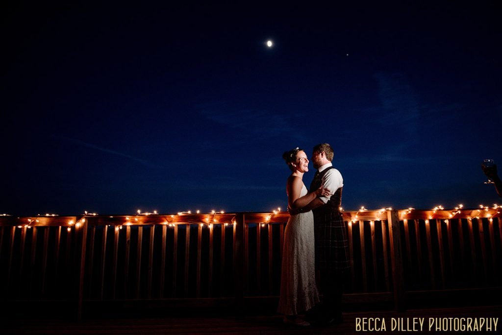 night portrait - destination wedding by Acadia National Park in Maine