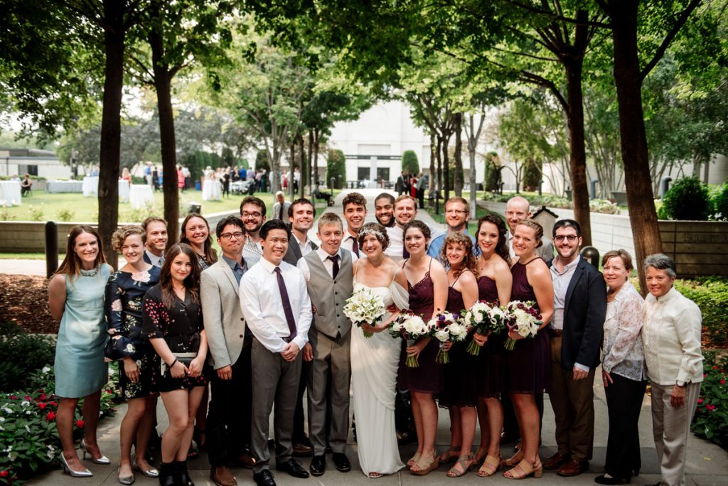 gathering together all the Macalester alumni at Minneapolis Institute of Art wedding