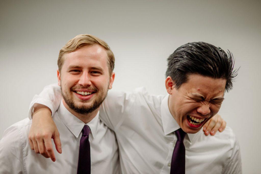 groomsmen at Minneapolis Institute of Art